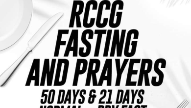 Photo of RCCG FASTING AND PRAYER GUIDE FOR 22ND JANUARY 2020 WEDNESDAY