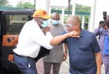 Photo of Gov Obaseki pays Gratitude visit to Gov wike for his Re-Election.