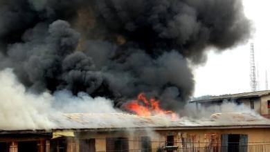 Photo of Fire Razes Sokoto Central Market.