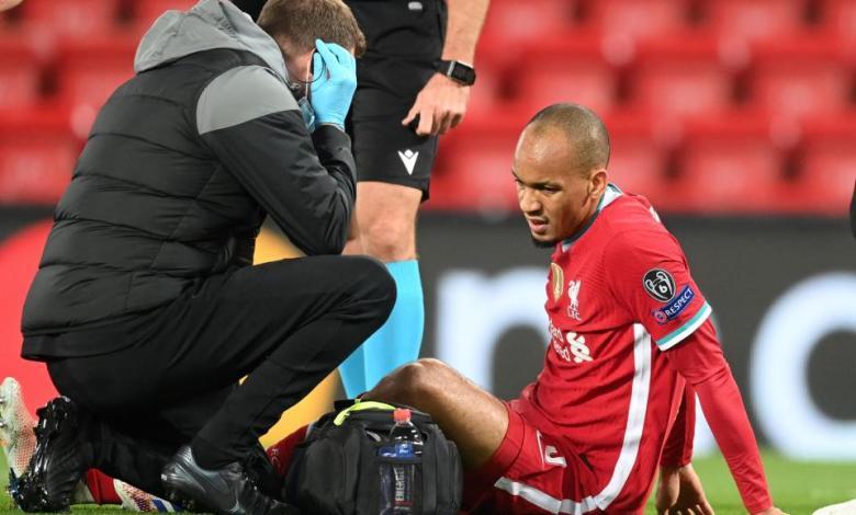 Photo of Midfielder Fabinho Adds To Liverpool's Injury Woes.