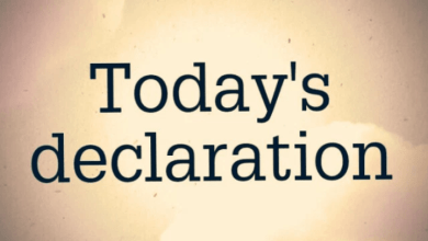 Photo of DAILY DECLARATIONS FOR TODAY 29 JUNE 2021