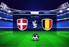 Photo of TODAY'S MATCH: Denmark VS Belgium 5:00PM