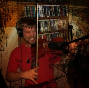 Alan Kaminsky playing violin on the Worst Little Podcast 2013 10 21