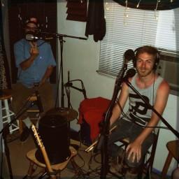 Nick Ramirez flipping off the camera while Andrew Martin smiles
