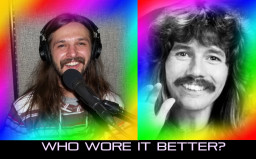 Mike Smalski has a similar mustache and long hair to that of Doug Henning