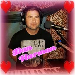 """Dan Harmon"" with hearts around him, keyboard for The Hunt Club"