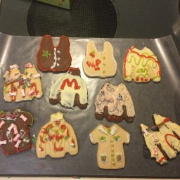 Ugly sweater homemade cookies from the party