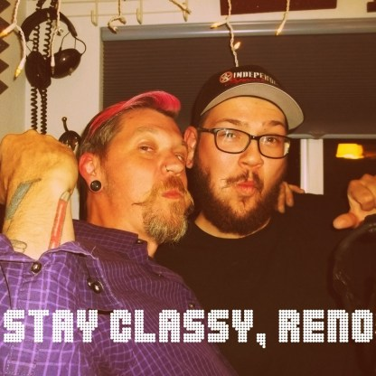 Ian Ferriott of Reno Nevada band Down and Out staying classy with Worst Little Podcast host Rory Dowd.