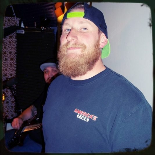 Kyle Smith from Reno Nevada band Down and Out popped up from the drummer dungeon at Dogwater Studios to look fly as fuck in that backwards hat.