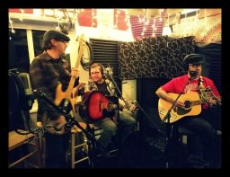 Reno folk punk band The Adorables jamming at Dogwater Studios while recording for the Worst Little Podcast.
