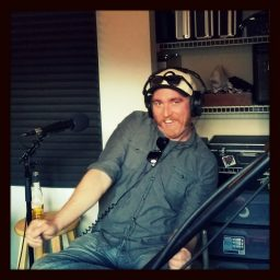 Joshua Kisor, guitarist for Reno band Silver dancing while being interviewed for the podcast.