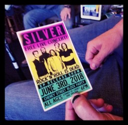 Poster for the Silver EP release
