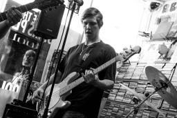 Lucas Grimedog, playing bass