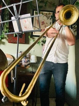 Paul on the trombone