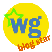 "Waking Girl Web Design ""Blog Star"" logo"