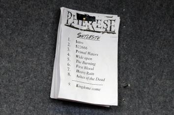 Setliste von Pherese. (Foto: Björn Othlinghaus)