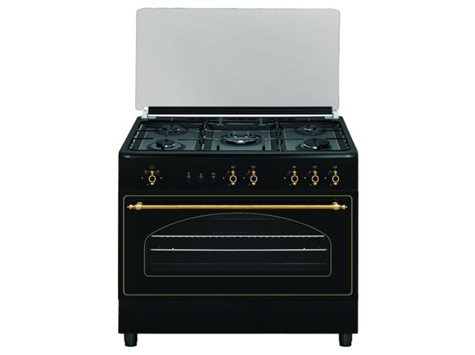 Cocina de Gas 5 quemadores VITROKITCHEN RU9060B  WORTENES