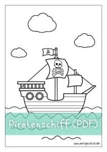 Piratenschiff Malvorlage Einfach