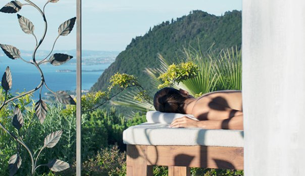 An outdoor spa treatment at Lefay Resort and Spa