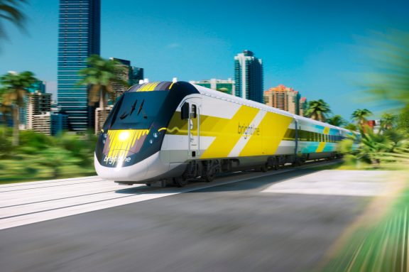 A Brightline train in action. Photo courtesy of Brightline