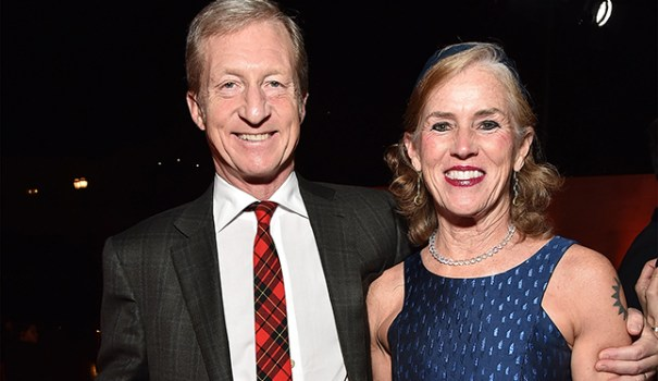 Kat Taylor with her husband Tom Steyer