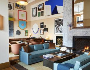 The Living Room of the Shinola Hotel. Photo courtesy of Nicole Franzen