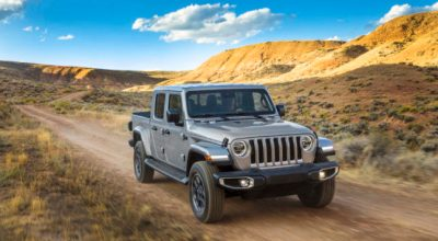 SUV's 2020 Jeep Gladiator Overland. Photo courtesy of Fiat Chrysler Automobiles