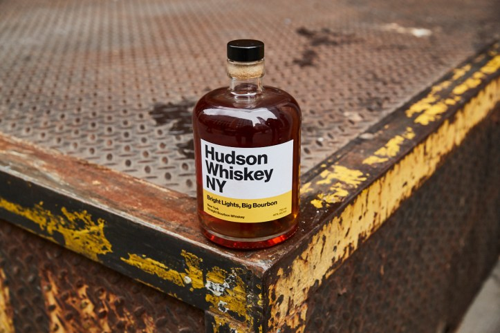 Hudson Whiskey's Bright Lights, Big Bourbon: From the foothills of the Shawangunk Mountains, in the heart of the Hudson Valley, to cobblestone streets of Tribeca, to the top shelf in your bar. Photo courtesy of Hudson Whiskey NY