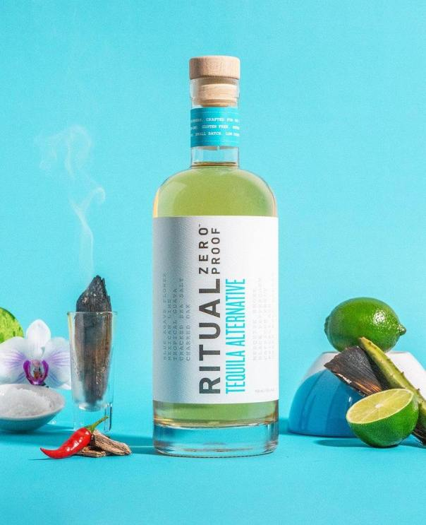Ritual Zero Proof Tequila loses the carbs and alcohol while staying true to the flavor and bite of alcoholic tequilas. Photo courtesy of Ritual