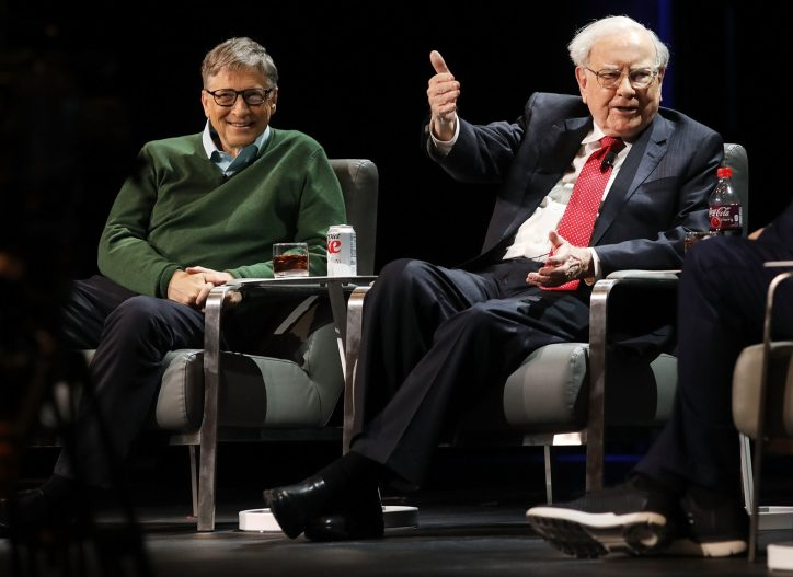 Billionaire signers of the Giving Pledge—an initiative started by Bill Gates (L) and Warren Buffet (R) over a decade ago—have struggled to find non-profit impact projects where they can deploy their wealth at scale.
