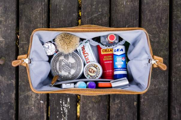 This luxury necessaire will get dad's toiletries to the next destination in style. Photo courtesy of Gamen
