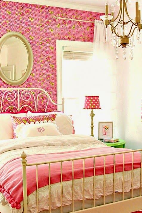 Pretty girl's bedroom makeover