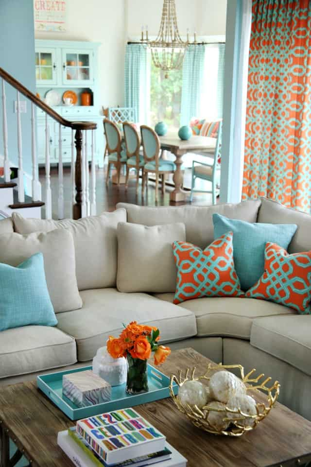 living room ideas with turquoise walls purple and white chairs 5 on friday coral decor worthing court dining colordrunk designs