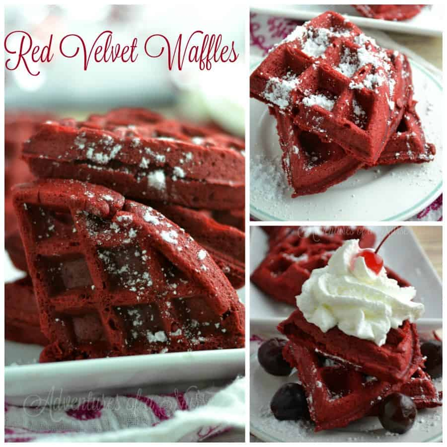 Red Velvet Waffles from Adventures Of A Nurse