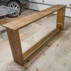 Build A Rustic Sofa Table Diy Sectional How To Worthing Court Console