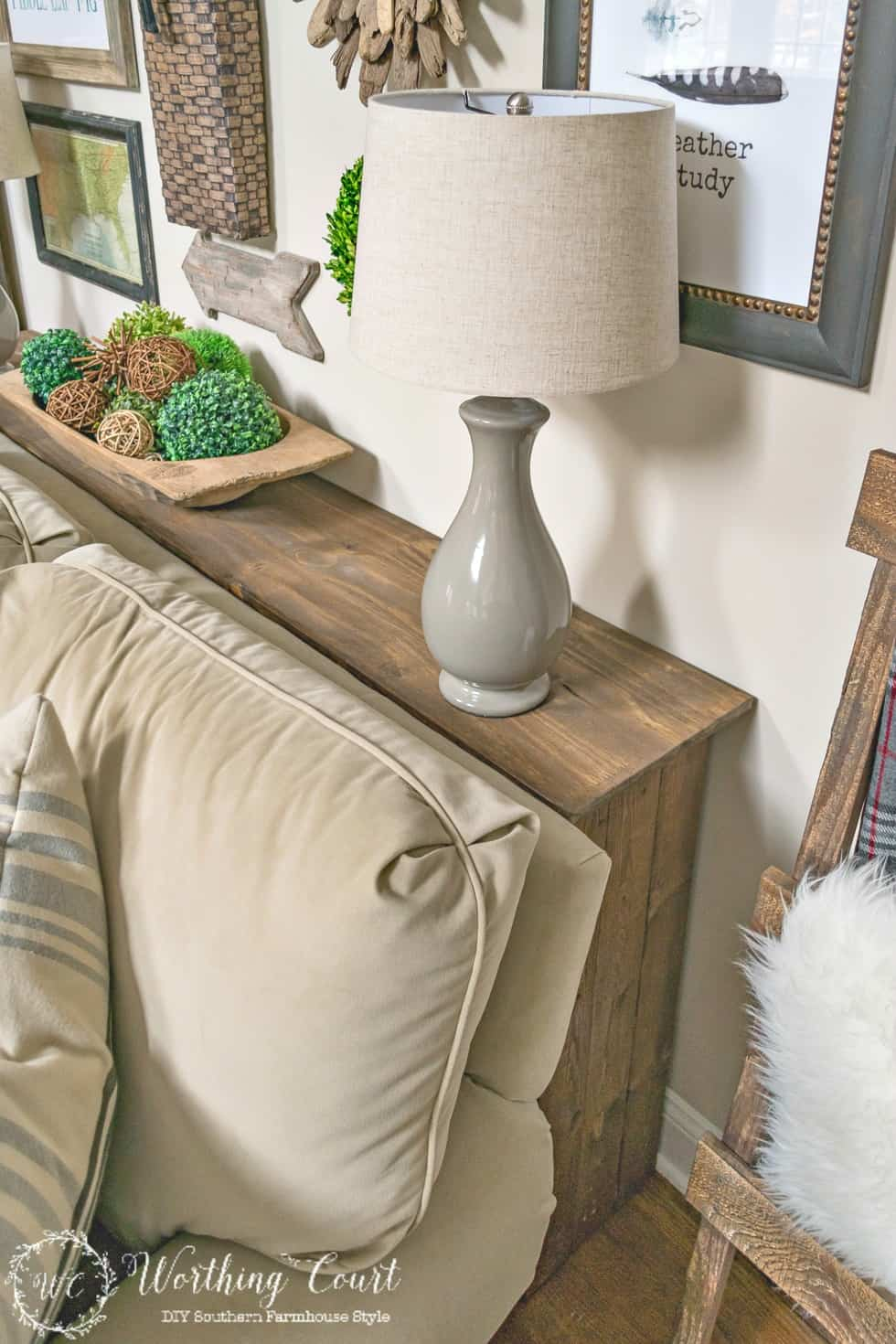 build a rustic sofa table 3 seater with chaise cover how to worthing court this is such an easy project