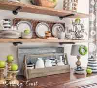 Late Summer Farmhouse Open Kitchen Shelves