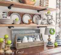 Late Summer Farmhouse Open Kitchen Shelves - Worthing Court