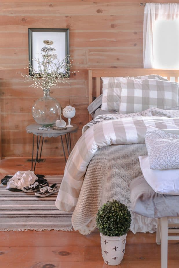 Ticking Stripe Bedding from Creative Cain Cabin