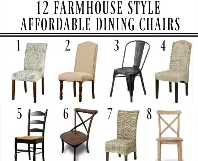 farmhouse dining chairs leather bean bag for adults get ready holiday entertaining 12 affordable worthing court
