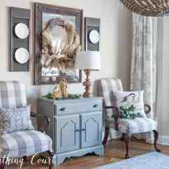 Farmhouse Glam Living Room Leather Sets For Cheap My Rustic Christmas Dining Worthing Court Sideboard And Mirror Decorations