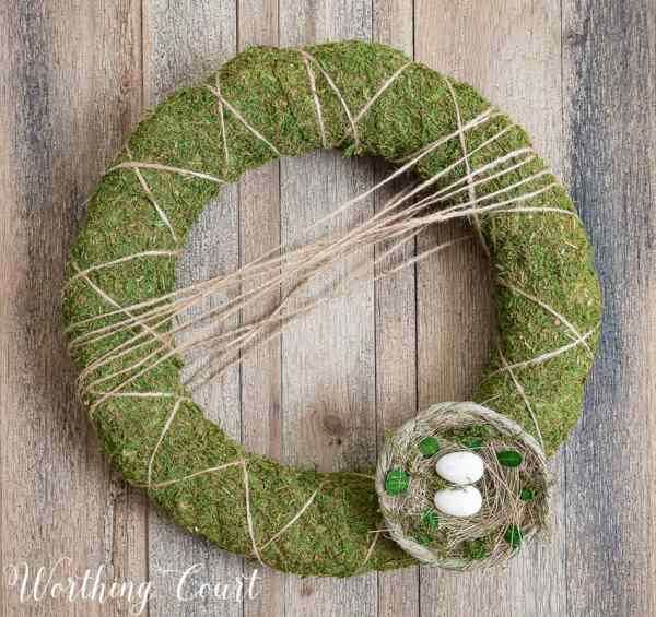 Make Moss Covered Wreath - Worthing Court