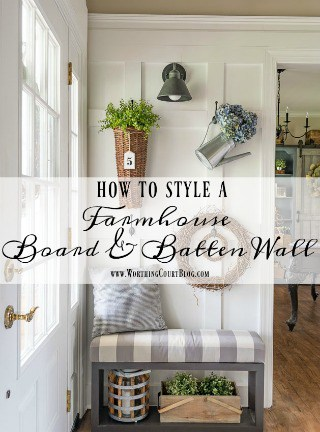 Foyer Updates And How To Style A Farmhouse Board And
