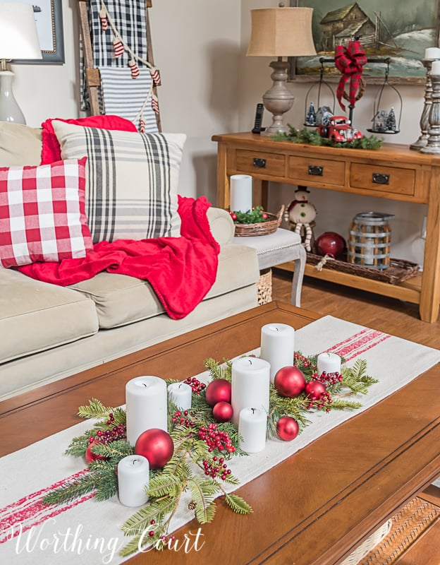 ideas for decorating your living room christmas cream and gold easy fast last minute worthing court coffee table with arrangement christmasdecor