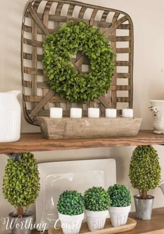 Spring shelf decorations #springdecor #spring #shelfdecor