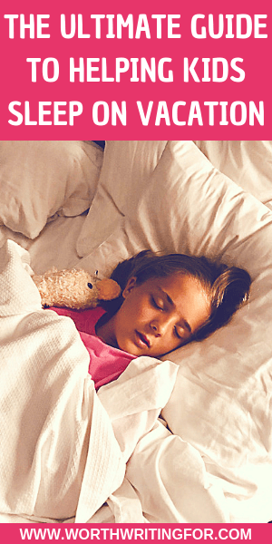 help young children sleep well on vacation
