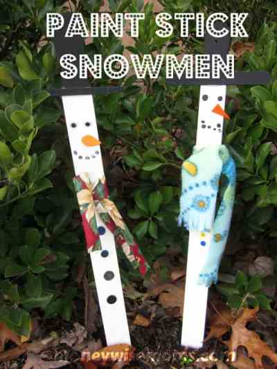 snowman holiday craft for kids
