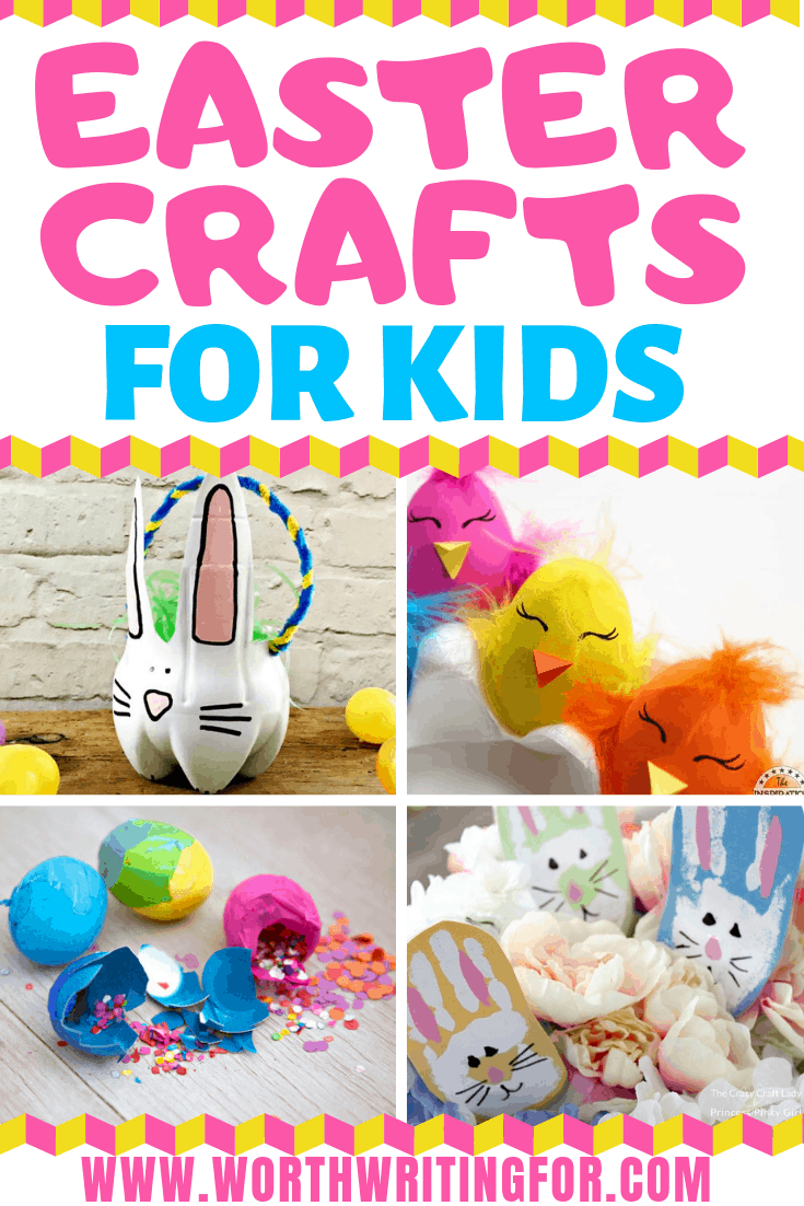 Easter crafts for kids! 21 Easter craft ideas and Easter activities for kids to do this spring. From bunny crafts to egg decorating and even a snack idea. Check them out!