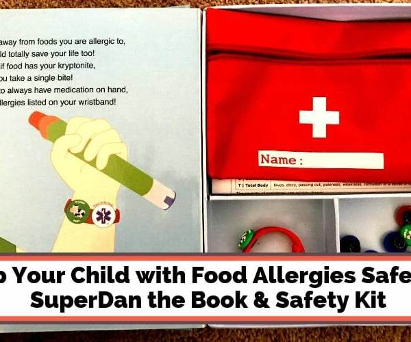 Keep Your Child with Food Allergies Safe with SuperDan the Book & Safety Kit