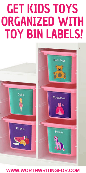 Teach Kids to Pick Up Their Own Toys with Toy Bin Labels